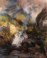 Children of the Mountain painting reproduction, Thomas Moran