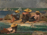 Children on the Beach painting reproduction, Winslow Homer