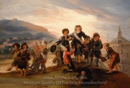 Children Playing Soldiers painting reproduction, Francisco De Goya