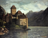 Chillon Castle painting reproduction, Gustave Courbet