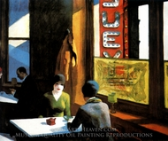 Chop Suey painting reproduction, Edward Hopper