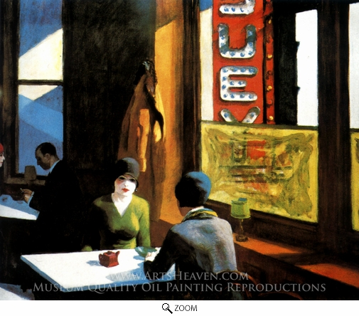 Edward Hopper, Chop Suey oil painting reproduction