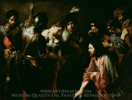 Christ and the Adulteress painting reproduction, Valentin De Boulogne