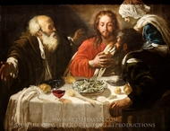 Christ and the Disciples in Emmaus painting reproduction, Caravaggio