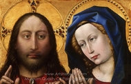 Christ and the Virgin painting reproduction, Robert Campin