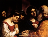 Christ and the Woman taken in Adultery painting reproduction, Guercino
