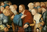 Christ and the Woman taken in Adultery painting reproduction, Lucas Cranach