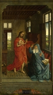 Christ appearing to the Virgin painting reproduction, Rogier Van Der Weyden