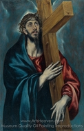 Christ Carrying the Cross painting reproduction, El Greco