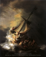 Christ in the Storm on the Sea of Galilee painting reproduction, Rembrandt Van Rijn