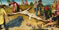 Christ Nailed to the Cross painting reproduction, Gerard David