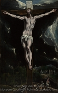 Christ on the Cross painting reproduction, El Greco