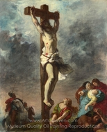 Christ on the Cross painting reproduction, Eugene Delacroix
