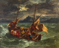 Christ on the Sea of Galilee painting reproduction, Eugene Delacroix