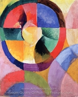 Circular Forms, Sun No. 1 painting reproduction, Robert Delaunay