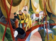Circus painting reproduction, August Macke