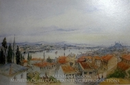 City View painting reproduction, Amedeo Preziosi