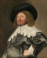 Claes Duyst van Voorhout painting reproduction, Frans Hals