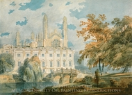 Clare Hall and King�s College Chapel, Cambridge, from the Banks of the River Cam painting reproduction, J.M.W. Turner