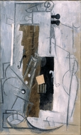 Clarinet and Violin painting reproduction, Pablo Picasso (inspired by)