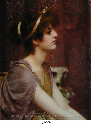 John William Godward, Classical Beauty oil painting reproduction