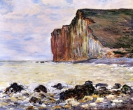 Cliffs of Les Petites-Dalles painting reproduction, Claude Monet