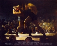 Club Night painting reproduction, George Bellows