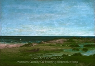 Coast Scene painting reproduction, Gustave Courbet