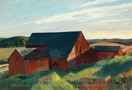 Cobb's Barns, South Truro painting reproduction, Edward Hopper