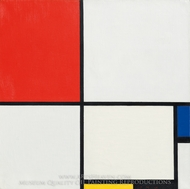 Composition No. III, with Red, Blue, Yellow and Black painting reproduction, Piet Mondrian