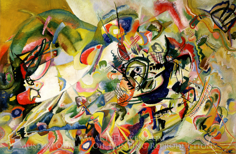 Wassily Kandinsky Composition VII (No. 7) Painting Reproduction ...