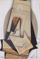 Composition with Violin painting reproduction, Juan Gris