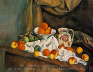 Compotier, Pitcher, and Fruit (Nature morte) painting reproduction, Paul C�zanne