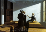 Conference at Night painting reproduction, Edward Hopper