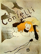 Confetti painting reproduction, Henri De Toulouse-Lautrec