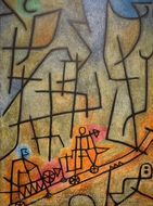 Conquest of the Mountain painting reproduction, Paul Klee