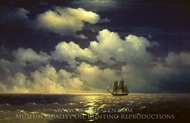 Constantinovich Brig Mercury After Victory Over Two Turkish Ships painting reproduction, Ivan Aivazovskiy