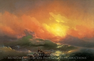Constantinovich the Ninth Wave painting reproduction, Ivan Aivazovskiy
