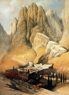 Convento De Santa Catalina Con El Monte Horeb painting reproduction, David Roberts