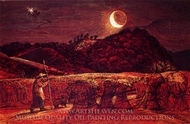Cornfield by Moonlight painting reproduction, Samuel Palmer