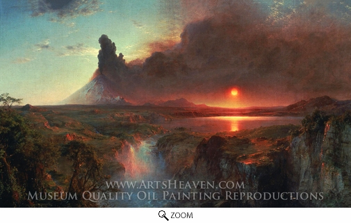 Frederic Edwin Church, Cotopaxi oil painting reproduction