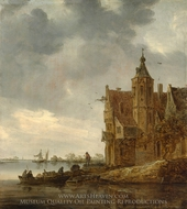 Country House near the Water painting reproduction, Jan Van Goyen