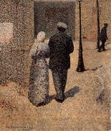 Couple in a Street painting reproduction, Charles Angrand