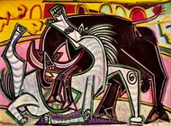 Courses de Taureaux (Corrida) painting reproduction, Pablo Picasso (inspired by)