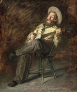 Cowboy Singing painting reproduction, Thomas Eakins