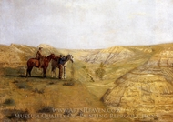 Cowboys in the Badlands painting reproduction, Thomas Eakins