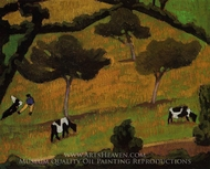 Cows in a Meadow painting reproduction, Roger De La Fresnaye