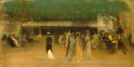 Cremorne Gardens, No. 2 painting reproduction, James McNeill Whistler