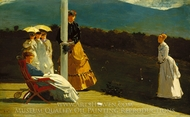 Croquet Match painting reproduction, Winslow Homer