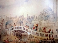 Crossing the Bridge painting reproduction, Amedeo Preziosi